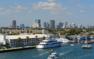 Ft. lauderdale skyline harbor